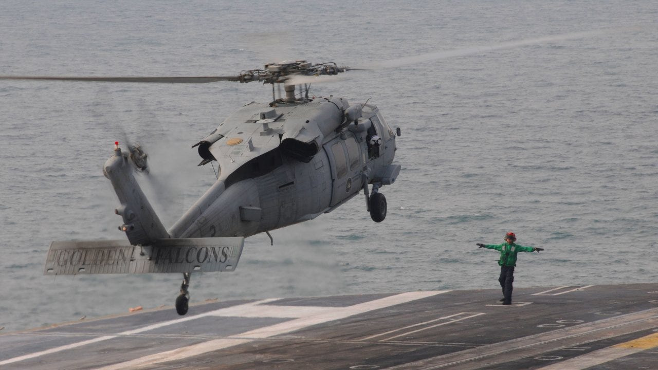 5 missing after U.S. Navy helicopter crashes off California