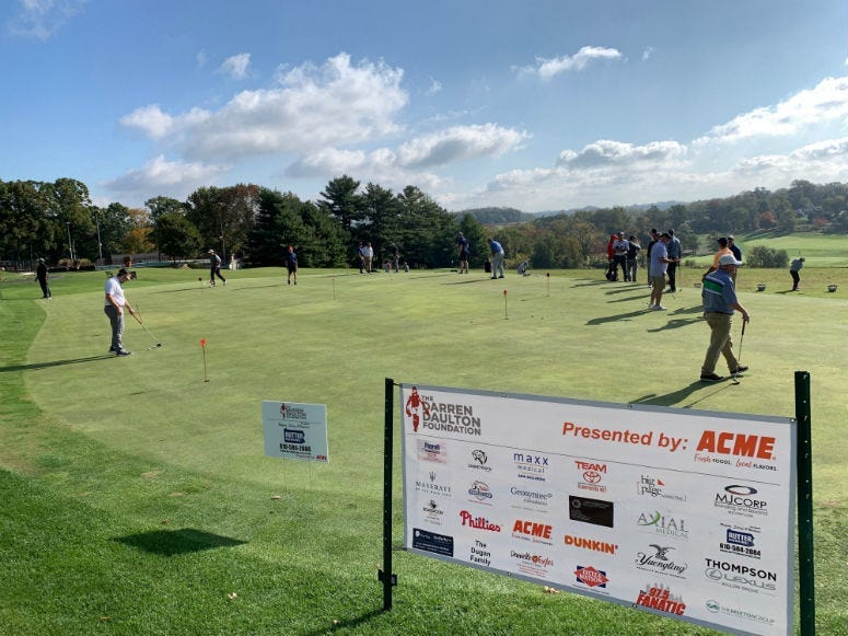 Phillies alumni raising money for the Darren Daulton Foundation at Huntingdon Valley Country Club.