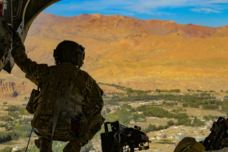 Helicopter over Afghanistan