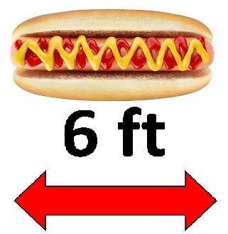 6 foot hot dog