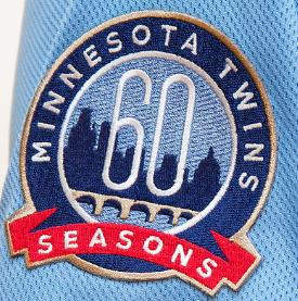Twins 60th season patch