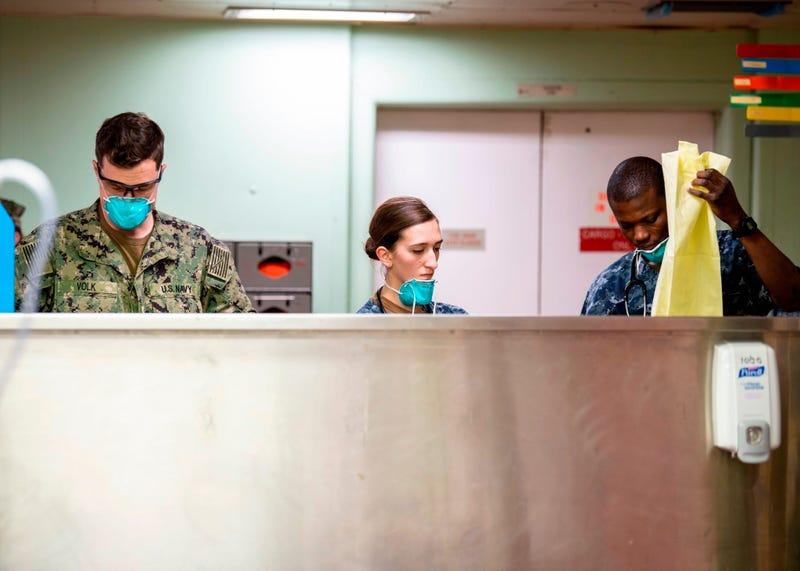 USNS Mercy admits patients