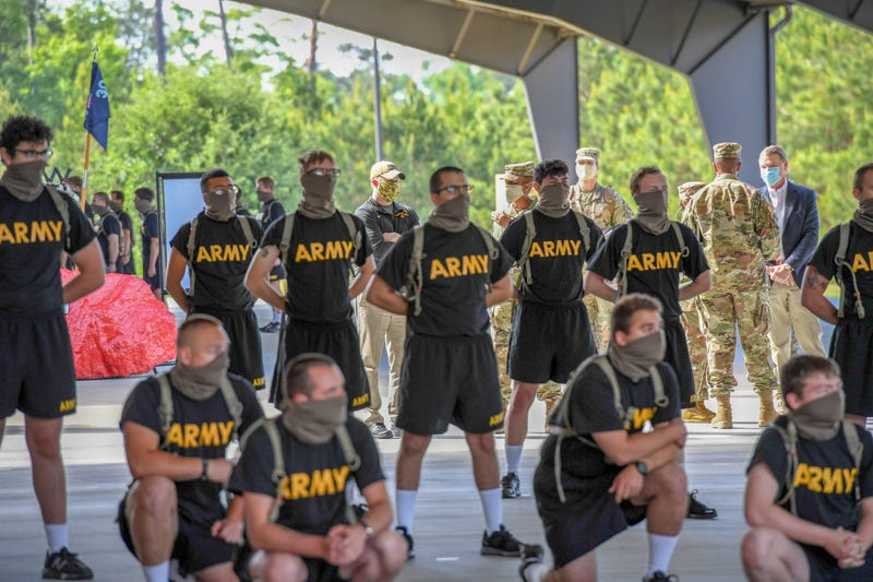 Secretary of the Army, Hon. Ryan D. McCarthy, visits U.S. Army Basic training at Fort Benning, Ga., April. 29, 2020