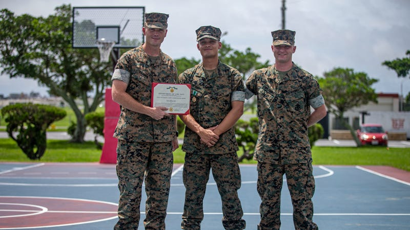 Stationed in Japan, Marine's quick action saves a life