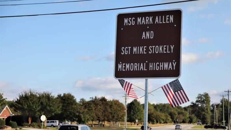 Highway rededicated to two fallen Georgia Guardsmen