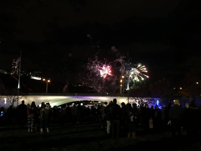 Fireworks at Santa Spectacular