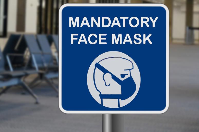 mandatory face mask sign