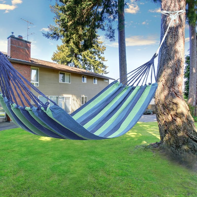 "78"" Outdoor Portable Polyester & Cotton Hammock 2 Colors"