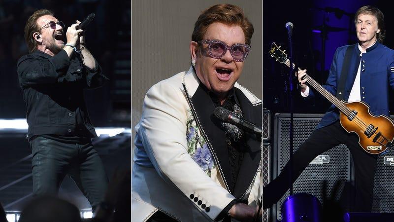 Bono, Elton John, Paul McCartney