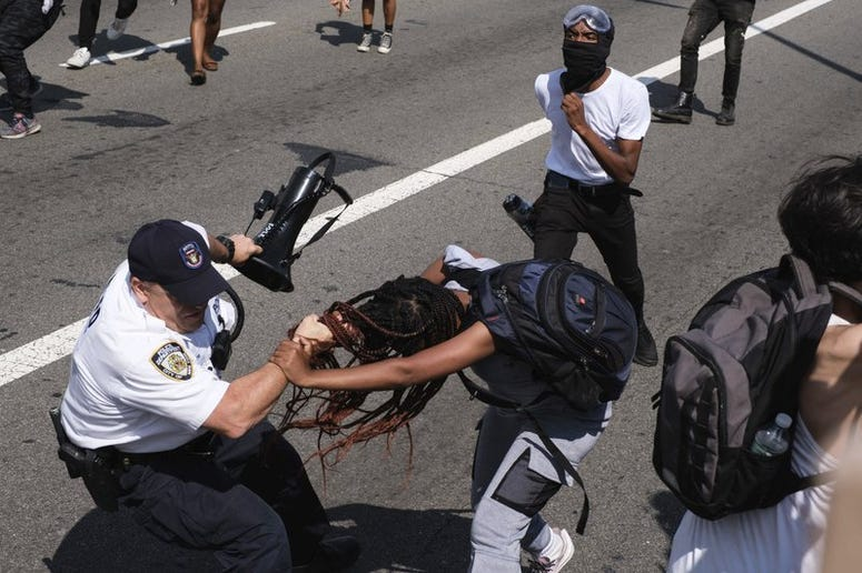 Brooklyn Clash with cops