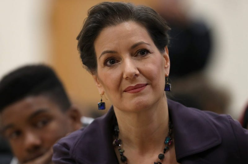 OAKLAND, CA - JANUARY 19: Oakland mayor Libby Schaaf looks on during an assembly at Edna Brewer Middle School about the U.S. Constitution on January 19, 2018 in Oakland, California. Oakland mayor Libby Schaaf discussed the U.S. Constitution with middle sc