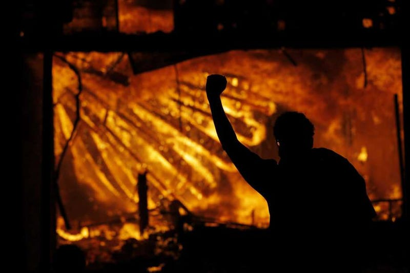 Fire rages in Minneapolis as protests continue