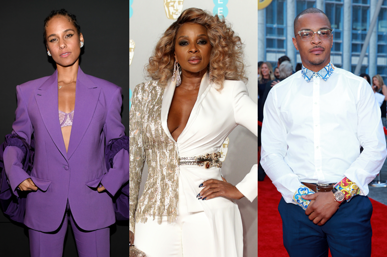 Alicia Keys, Mary J. Blige and T.I.