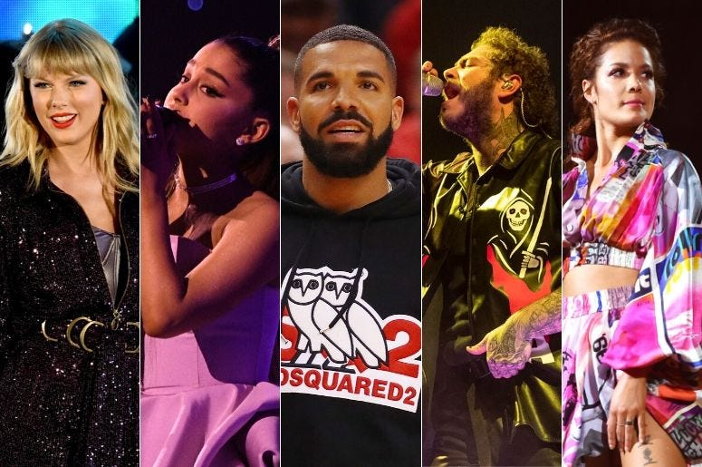 Nominees for the 2019 American Music Awards 'Aritst of the Year'