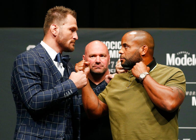 Miocic and Cormier