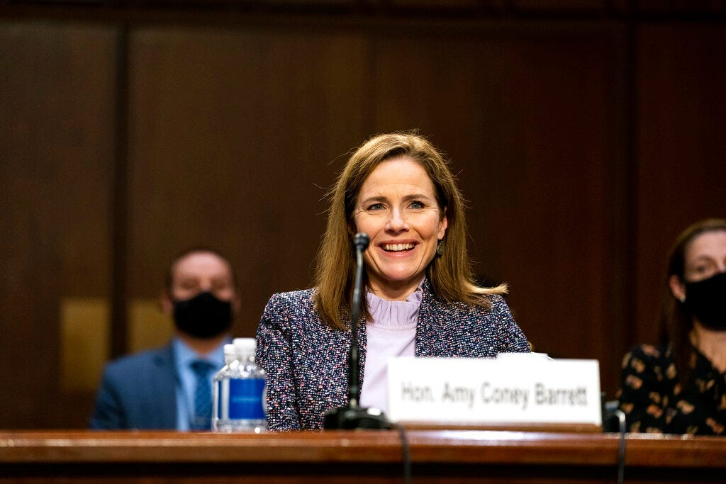 Senate on track to confirm Amy Coney Barrett to Supreme Court by next Monday