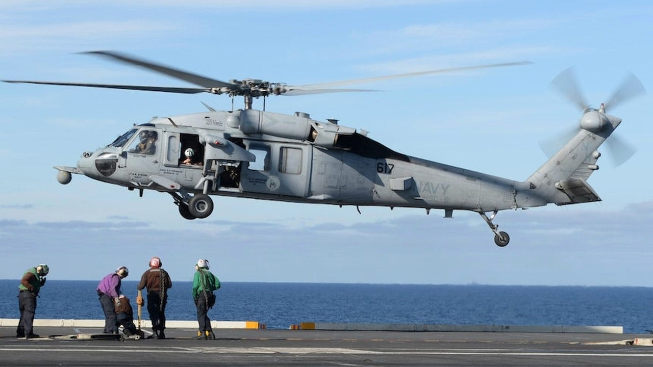 Navy identifies 5 killed in helicopter crash off California