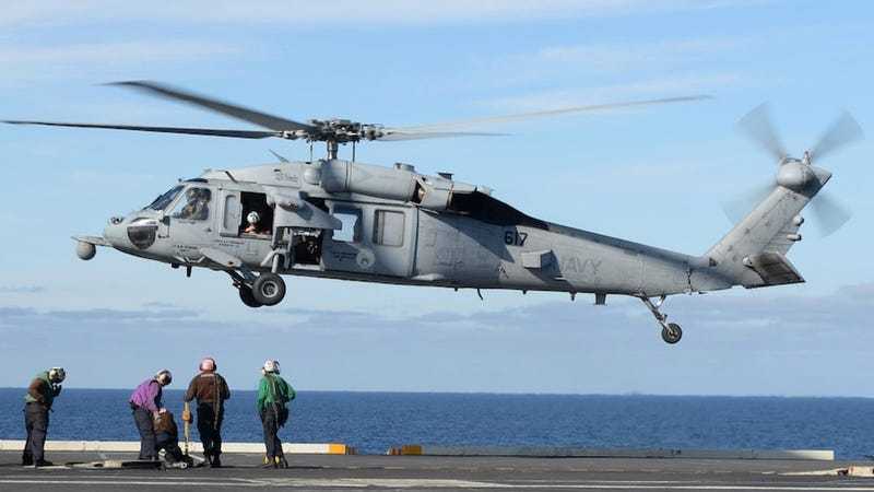 U.S. Navy helicopter, human remains recovered off California
