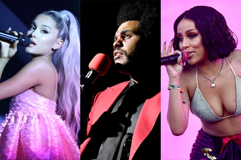 Ariana Grande, The Weeknd and Doja Cat