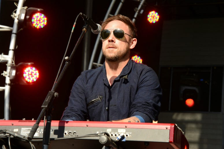 Mikel Jollett of The Airborne Toxic Event performs onstage