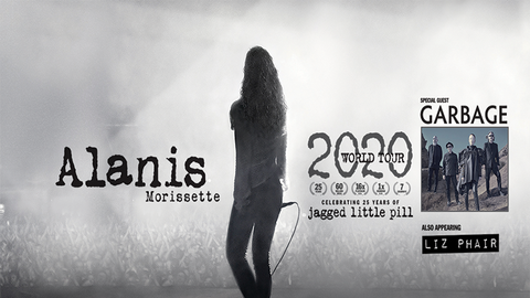 Alanis Morissette w/ special Guest Garbage & also appearing Liz Phair-POSTPONED