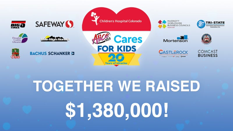 Alice Cares for Kids Radiothon