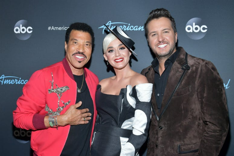 "Lionel Richie, Katy Perry and Luke Bryan attend ABC's ""American Idol"" Finale on May 19, 2019"