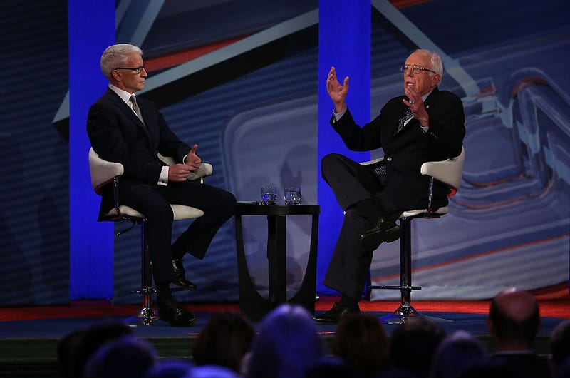 Anderson Cooper and Bernie Sanders town hall
