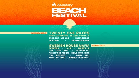 Audacy Beach Festival, starring Twenty One Pilots