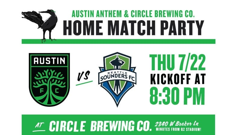 Austin FC vs Seattle Sounders FC / Austin Anthem