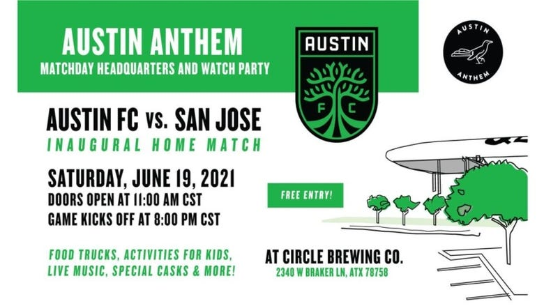 Austin FC First Home Game Watch Party with Austin Anthem