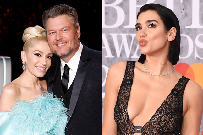 Gwen Stefani, Blake Shelton and Dua Lipa