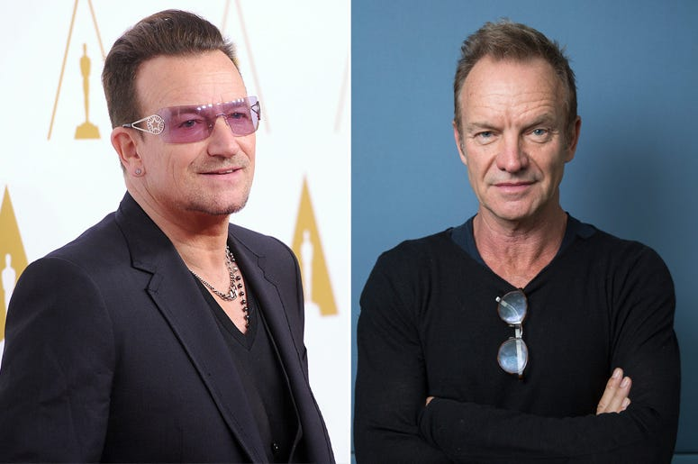 Bono and Sting