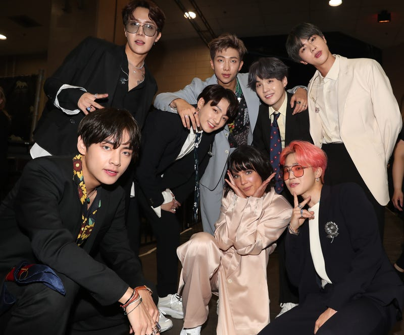 BILLBOARD MUSIC AWARDS -- Show Backstage -- 2019 BBMA at the MGM Grand, Las Vegas, Nevada -- Pictured: Halsey and BTS
