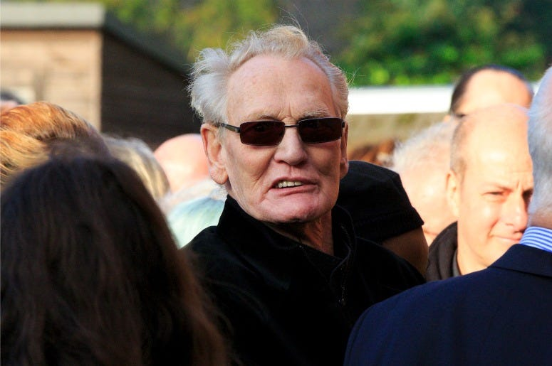 Ginger Baker attends the funeral of Jack Bruce