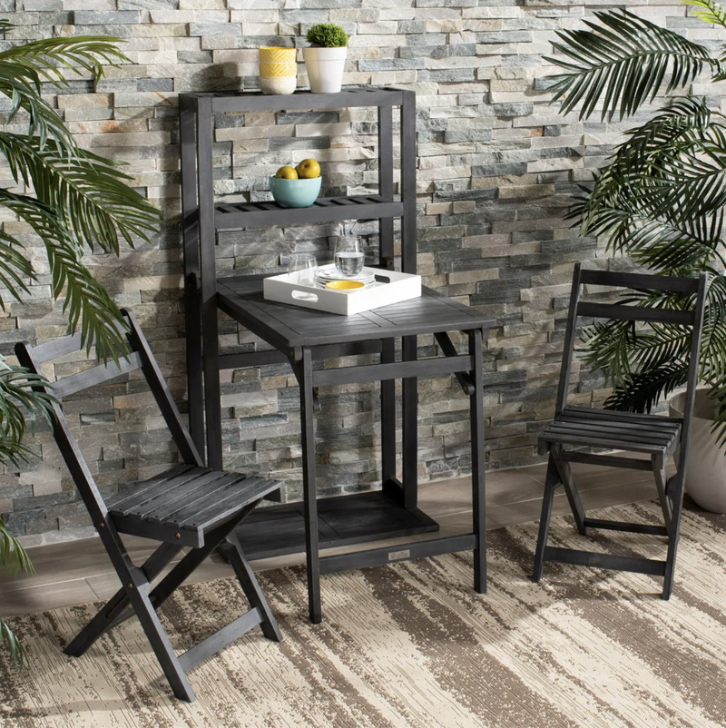Safavieh Outdoor Living Griffen Balcony Dining Cabinet Set