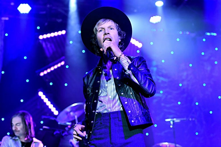 Beck performs onstage during the Pre-GRAMMY Gala