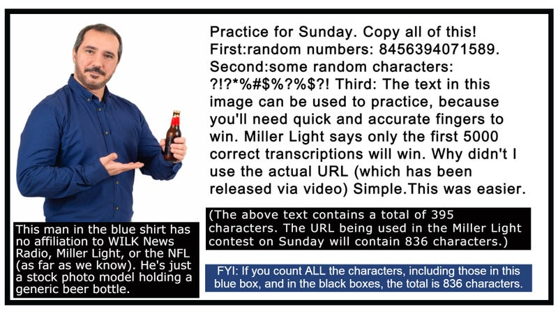 How fast are your thumbs?  Practice by copying the above text (in the image with the man wearing the blue shirt)