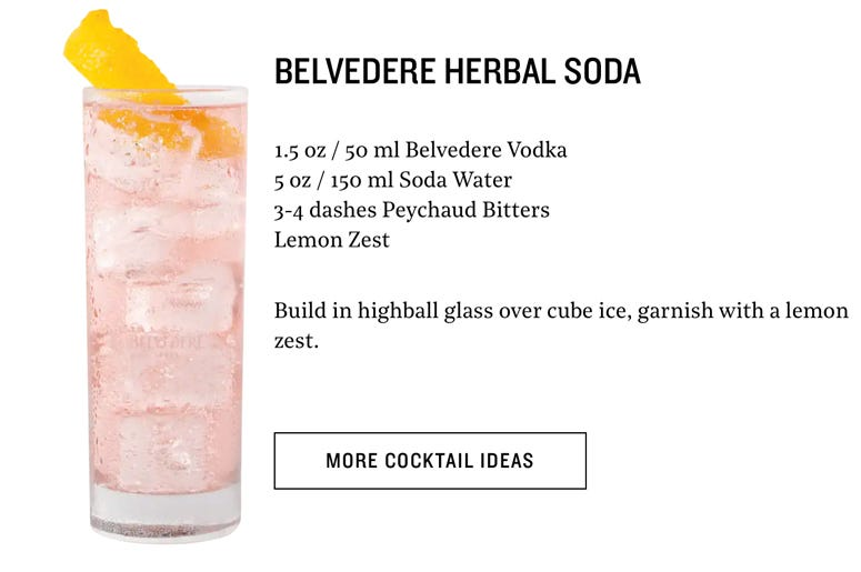Belvedere Old Fashioned