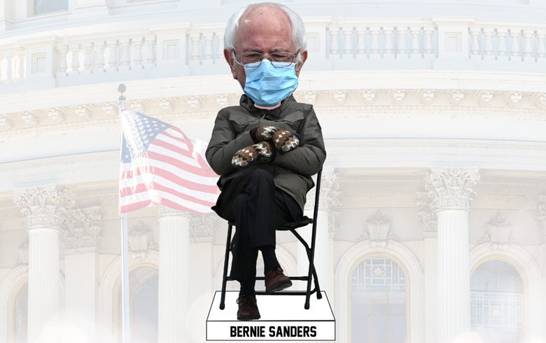 Bernie Sanders Inauguration Day bobblehead