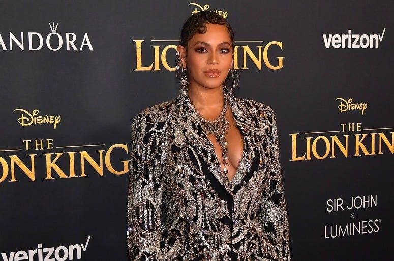 "Beyoncé attends the premiere of Disney's ""The Lion King"""