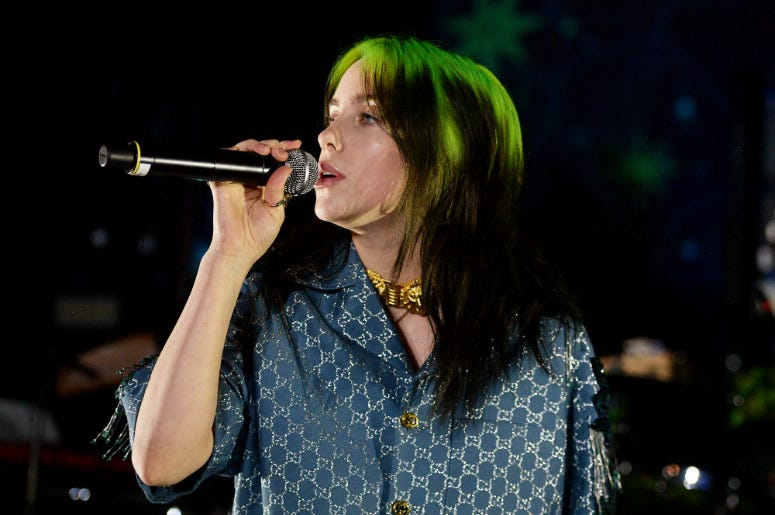 Billie Eilish performs onstage at the 2019 LACMA Art + Film Gala Presented By Gucci