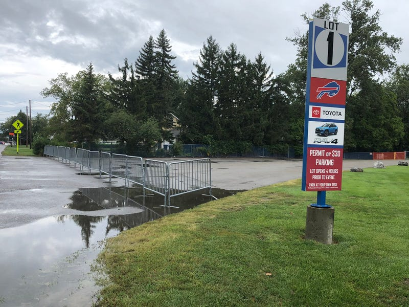 Lot 1 gated off ahead of the Bills home opener. September 13, 2020
