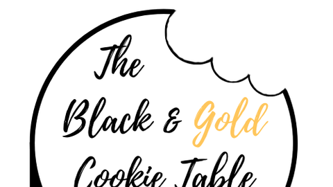 The Black & Gold cookie table drive-thru