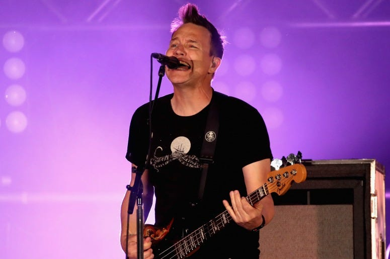 Mark Hoppus of blink-182 performs onstage at KROQ Weenie Roast