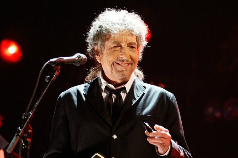 Bob Dylan performs onstage during the 17th Annual Critics' Choice Movie Awards