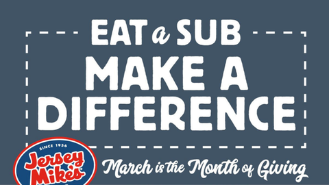 Month of Giving: Braden's Hope for Childhood Cancer & Jersey Mike's