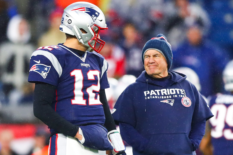 Tom Brady reacts to himself vs. Bill Belichick debate