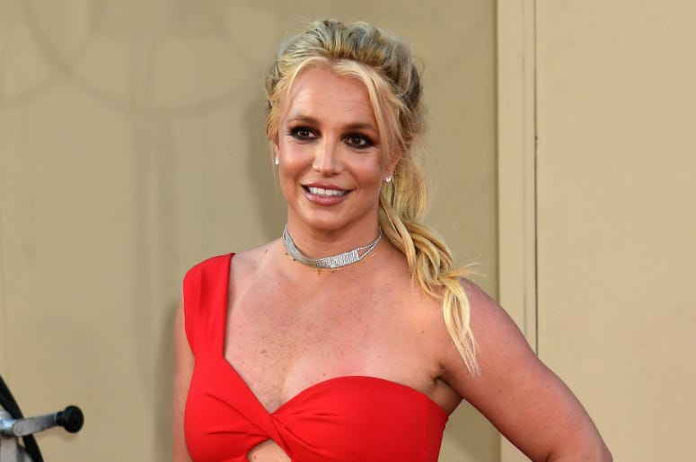 Britney Spears arrives to Once Upon A Time In Hollywood Los Angeles Premiere