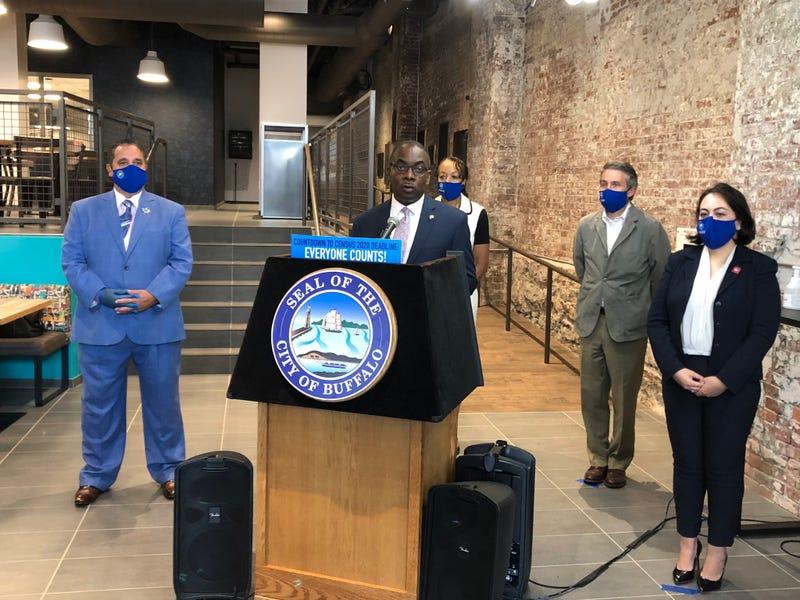 Mayor Byron Brown and Superintendent Dr. Kriner Cash
